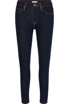 tommy hilfiger slim fit jeans venice slim rw lyn met tommy hilfiger-logobadge zwart