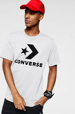 converse t-shirt »converse star chevron tee« wit