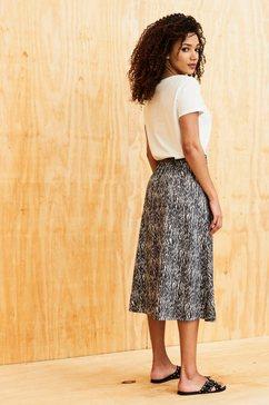 garcia rok in a-lijn met zebraprint zwart