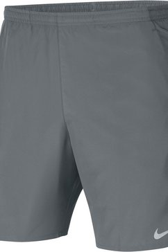 "nike runningshort nike (2) men's 7"" running shorts grijs"