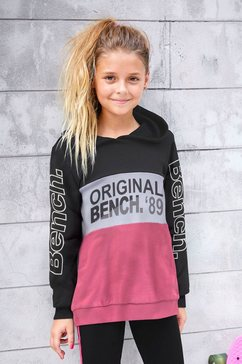 bench. hoodie met logoprints zwart