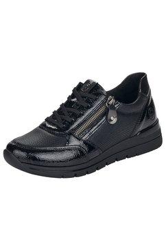 remonte sneakers met reptielmotief zwart