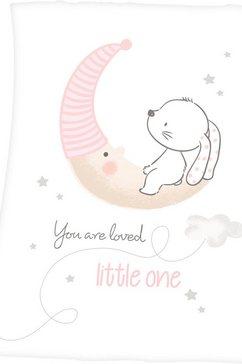 baby best babydeken little bunny met schattig konijntjesontwerp wit
