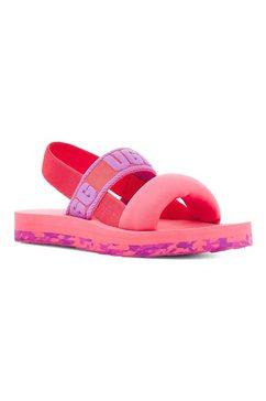 ugg sandalen met logo-garnering roze