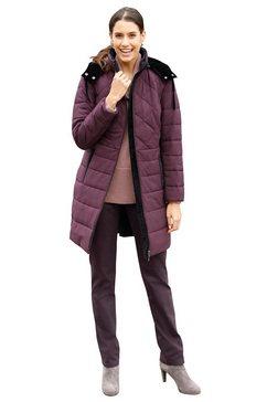 classic inspirationen doorgestikte jas met modellerende naden voor een mooie pasvorm paars
