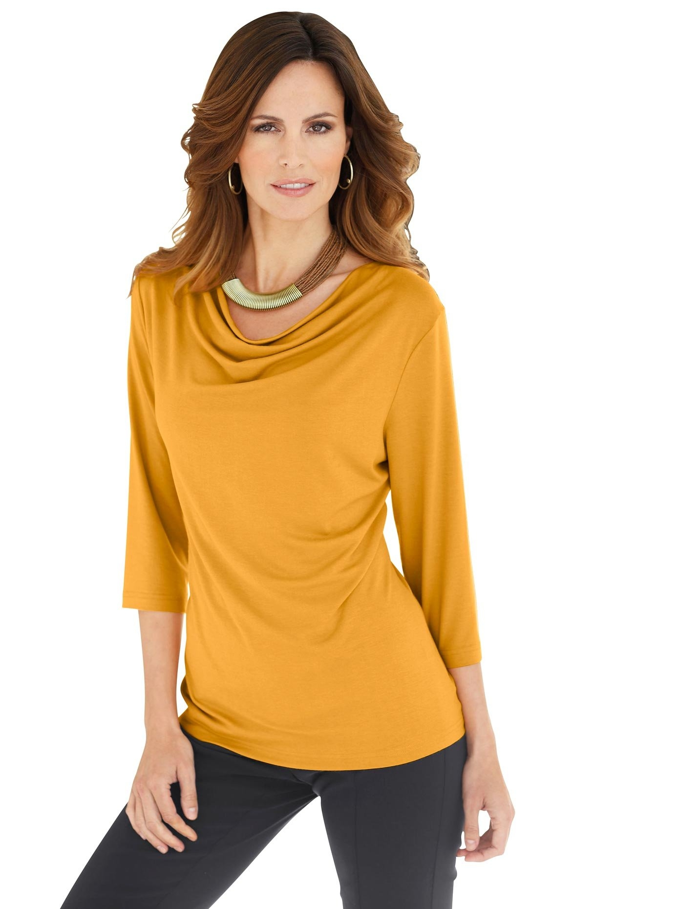 Classic Inspirationen shirt met cascadehals nu online kopen bij OTTO