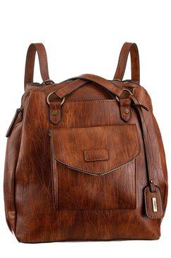 rieker tas ook als rugzak te dragen bruin