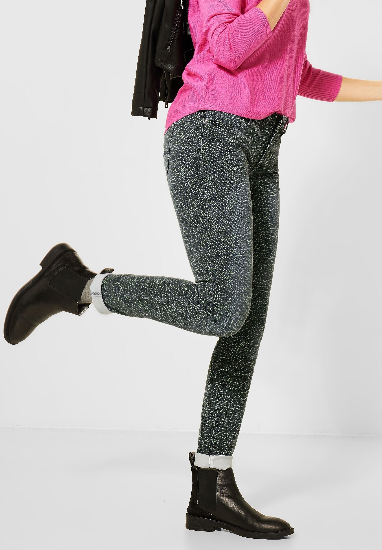STREET ONE slim fit jeans met dessin bij OTTO online kopen