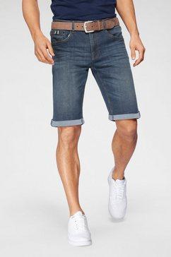 h.i.s jeansshort deyo duurzame, waterbesparende productie door ozon wash blauw