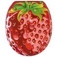 sanilo toiletzitting strawberry met soft-closemechanisme rood