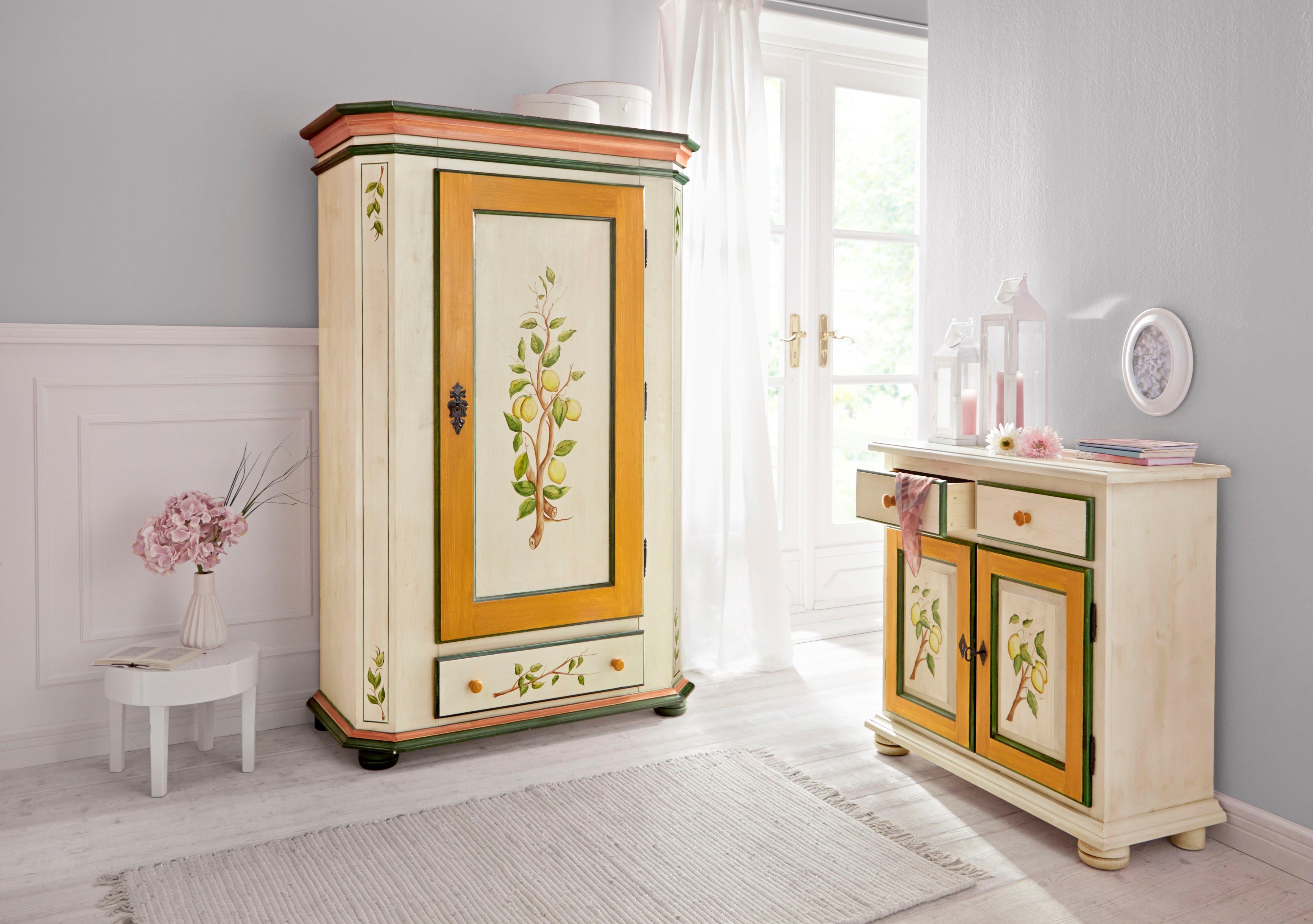 Home affaire kast Citroen met mooie met de hand geschilderde citroenschilderingen op de deurfronten, breedte 85 cm bestellen: 30 dagen bedenktijd