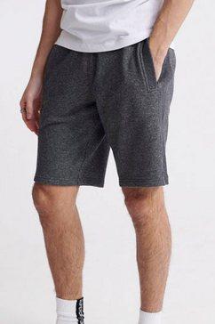 superdry sweatshort orange label classic short grijs
