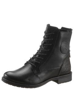 bugatti hoge veterschoenen ronja met gestempeld logo zwart
