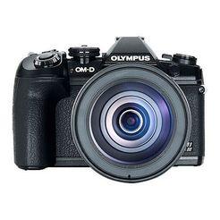 olympus »e-m1 mark iii 12-100mm kit blk-blk« spiegelreflexcamera zwart