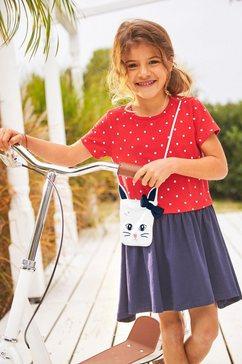 kidsworld jerseyjurk met kleine geappliqueerde tas rood
