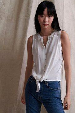 superdry kanten blouse »morgan lace blouse« wit