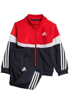 adidas performance trainingspak »shiny badge of sport 3-streifen« rood