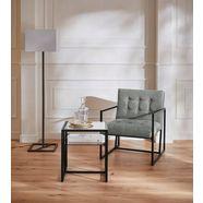 guido maria kretschmer homeliving fauteuil silwai met mooi verguld metalen frame en fluwelen bekleding, zithoogte 44 cm groen