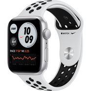 apple watch nike se gps, aluminium kast met nike sportbandje 44 mm inclusief oplaadstation (magnetische oplaadkabel) zilver
