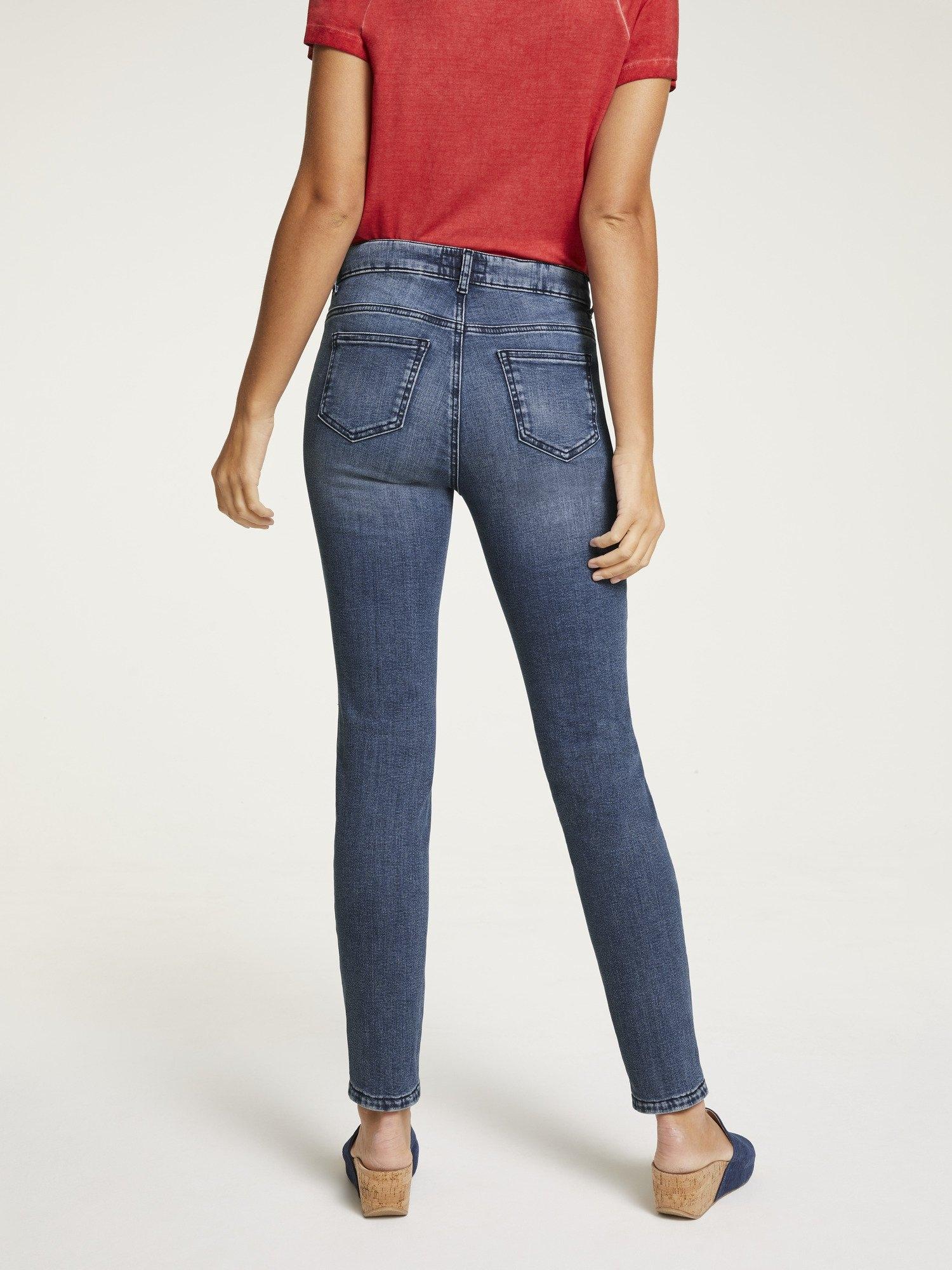 LINEA TESINI by Heine slim fit jeans met borduurwerk bestellen: 30 dagen bedenktijd