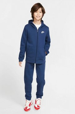 nike sportswear joggingpak »boys tracksuit core fleece« (set, 2-delig) blauw