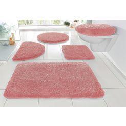 badmat »sanremo«, my home, hoogte 30 mm, met antislip-coating, geschikt voor vloerverwarming roze