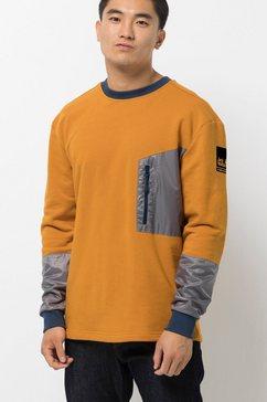 jack wolfskin sweater geel