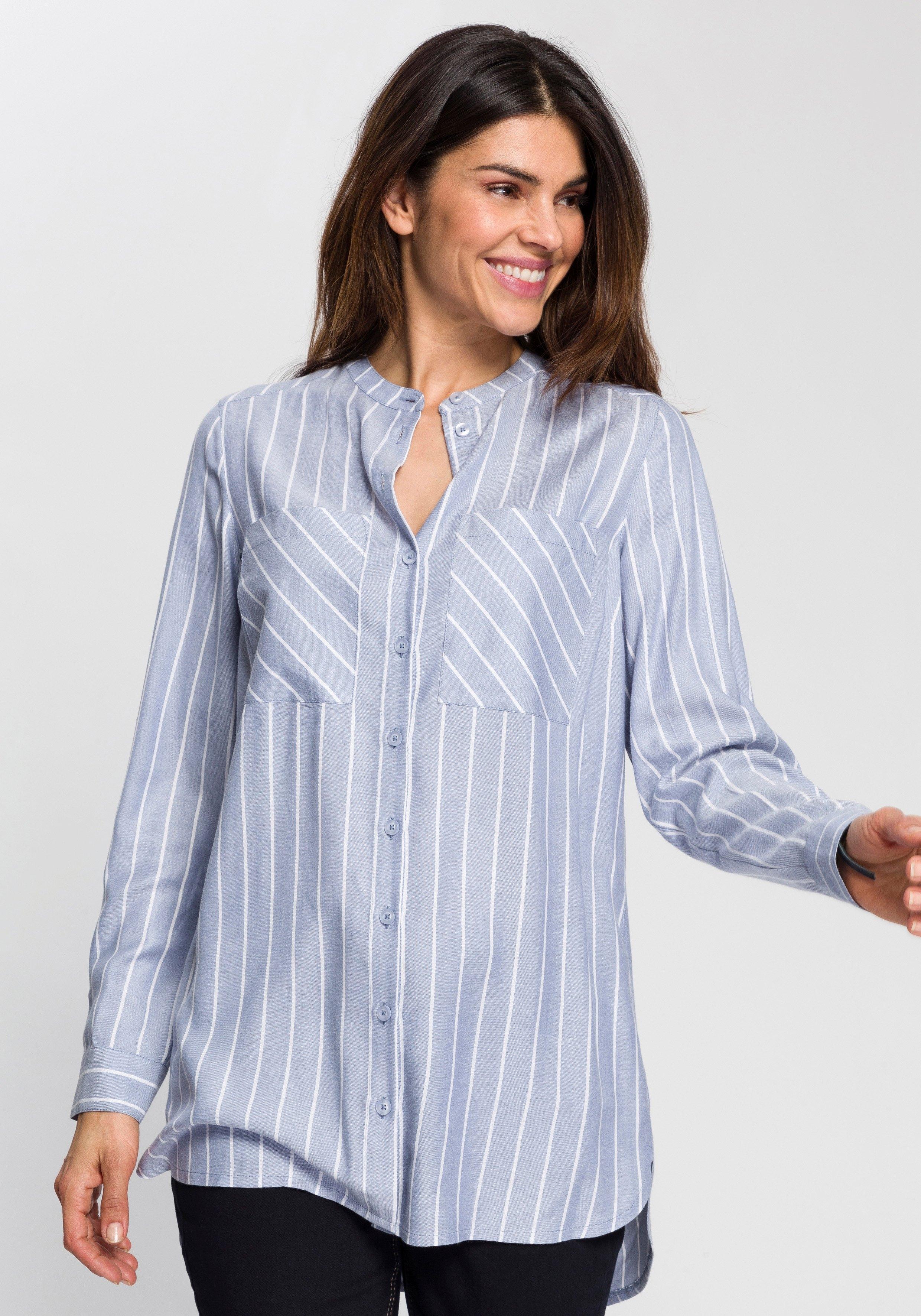 Boysen's lange blouse met een ronde hals in de webshop van OTTO kopen