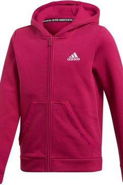 adidas performance capuchonsweatvest »must haves winter logo kapuzenjacke« paars