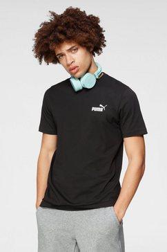 puma t-shirt »ess small logo tee« zwart