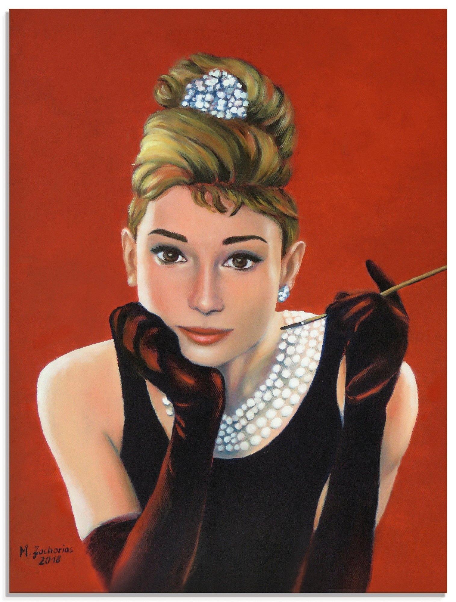 Artland print op glas Audrey Hepburn portret (1 stuk) veilig op otto.nl kopen