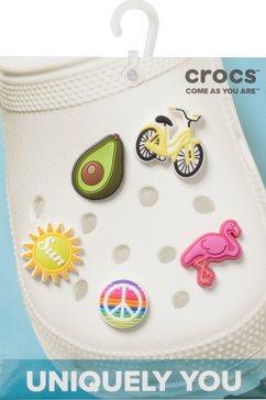 crocs schoenbutton (set, 5-delig) wit