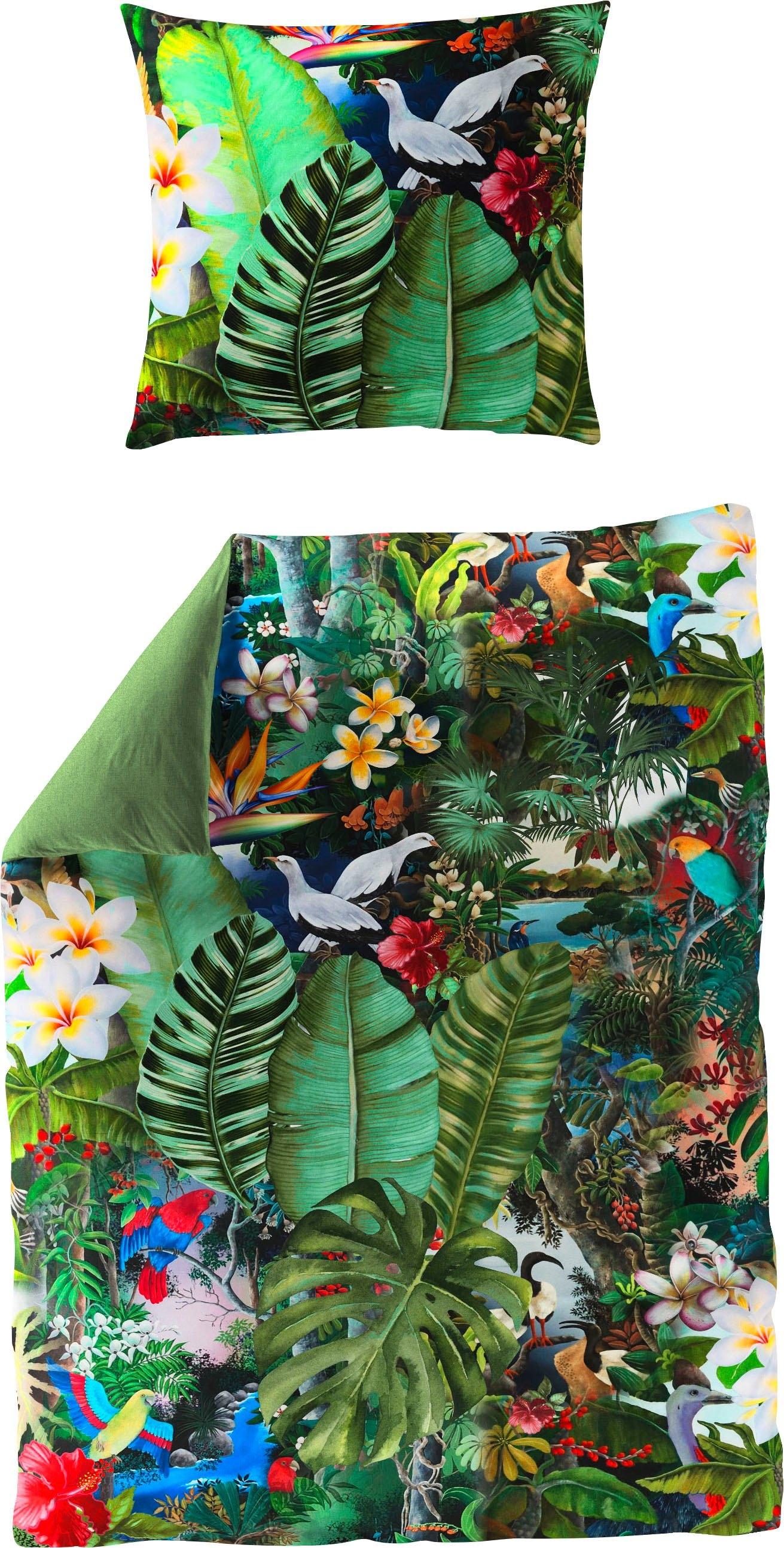 BIERBAUM tweezijdig te gebruiken overtrekset Tropical met bladeren (2-delig) voordelig en veilig online kopen