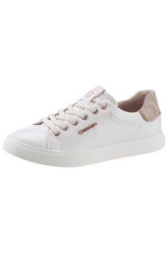 dockers by gerli sneakers met contrastbeleg wit