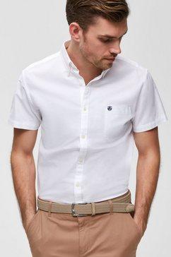 selected homme overhemd met korte mouwen »reg collect shirt« wit