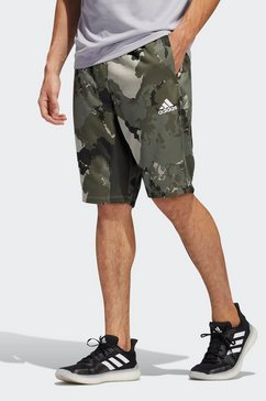 adidas performance functionele short »continent camo city« grijs