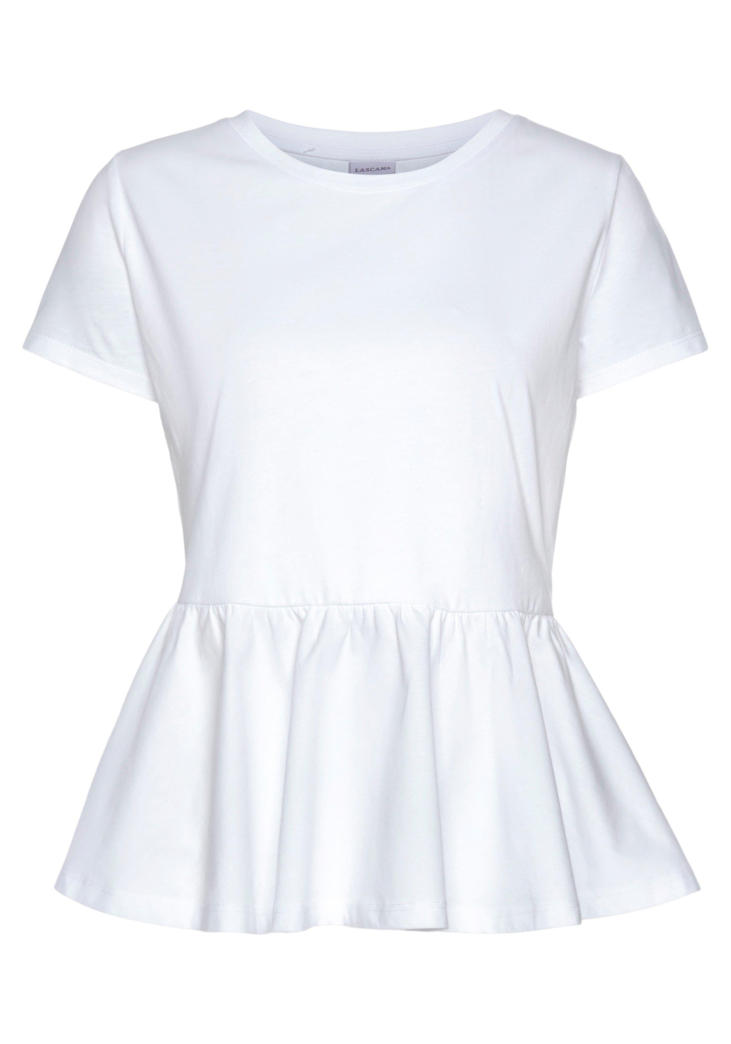 Lascana shirt met peplum gemaakt van katoen bij OTTO online kopen