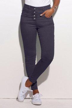 lascana high-waist jeans van superstretch-kwaliteit blauw