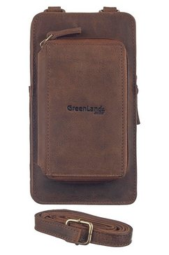 greenland nature mini-bag montenegro met opgestikte portemonnee bruin