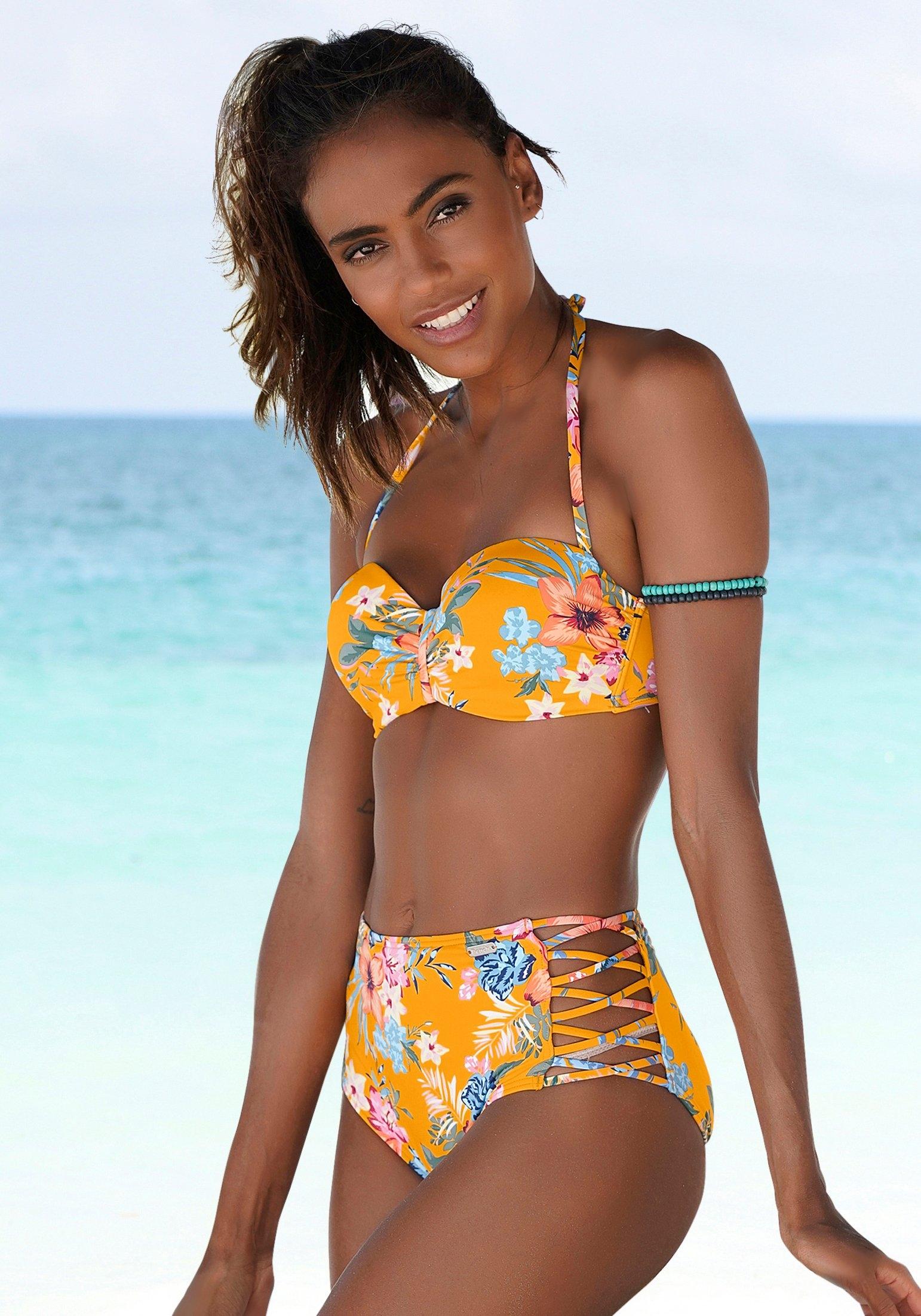 Bench. highwaist-bikinibroekje Maui met gekruiste sierbandjes nu online kopen bij OTTO