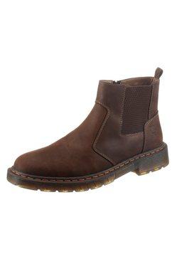 rieker chelsea-boots met brede stretch bruin