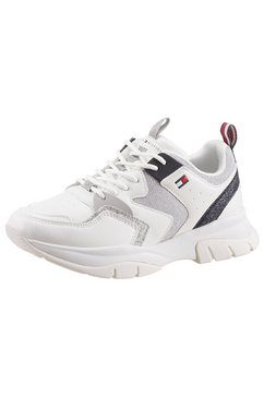 tommy hilfiger sneakers met glitter wit