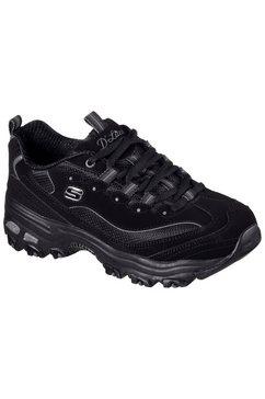 skechers sneakers d´lites - biggest fan in een trendy chunky-stijl zwart