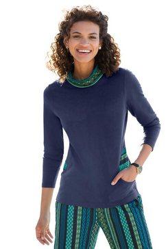 classic basics sweatshirt met gedessineerde accenten blauw
