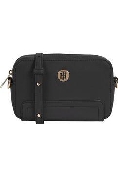 tommy hilfiger mini-bag honey camera bag schoudertas in klein formaat zwart