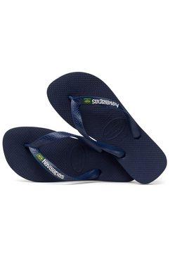 havaianas teenslippers »brasil logo« blauw