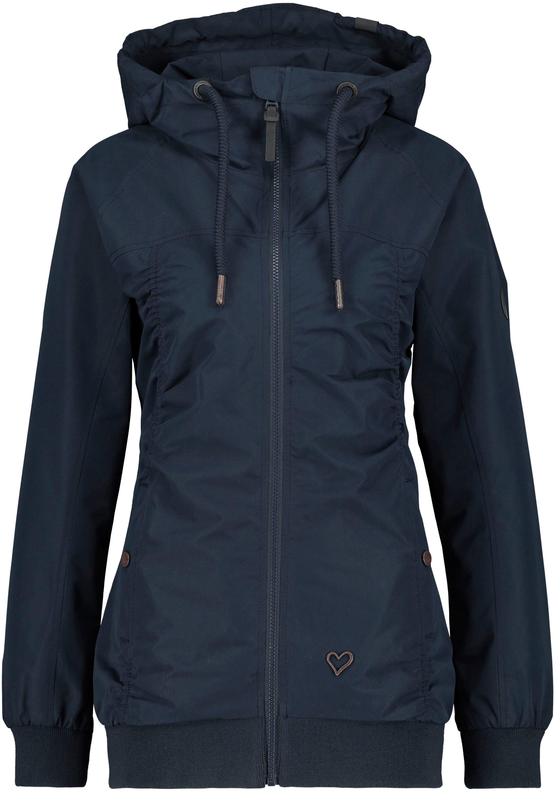 alife and kickin outdoorjack Black MambaAK licht jasje met elegante plooien, capuchon & zakken opzij veilig op otto.nl kopen