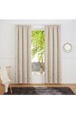 my home gordijn blackout curtain with foil print star (1 stuk) beige