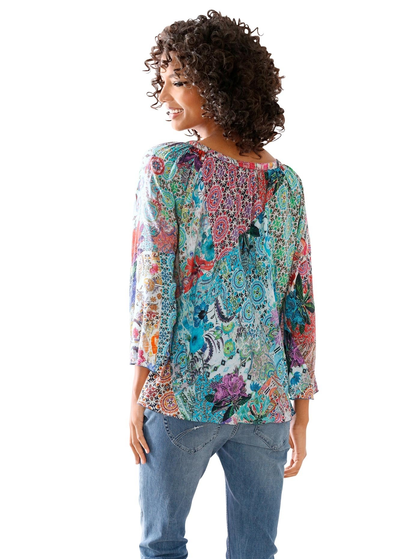 LINEA TESINI by Heine gedessineerde blouse om te strikken - verschillende betaalmethodes
