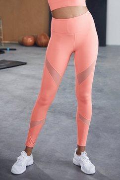 active by lascana functionele legging met kleine aanrimpeling oranje